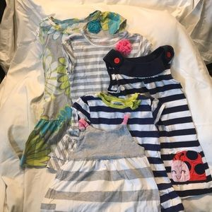 Lot of 5 Carter's Dresses Size 4T